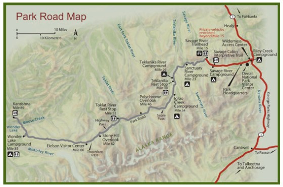 denali park map