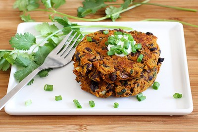 mexi black bean cakes