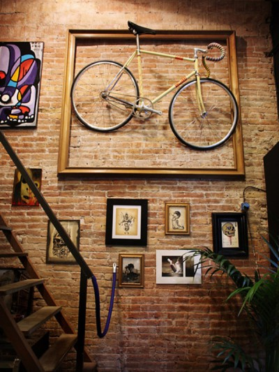 bike on wall