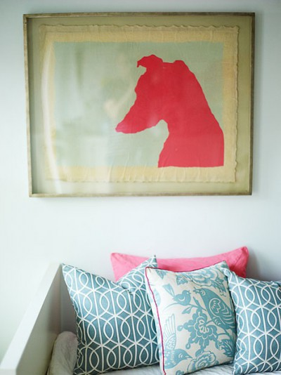 dog head print