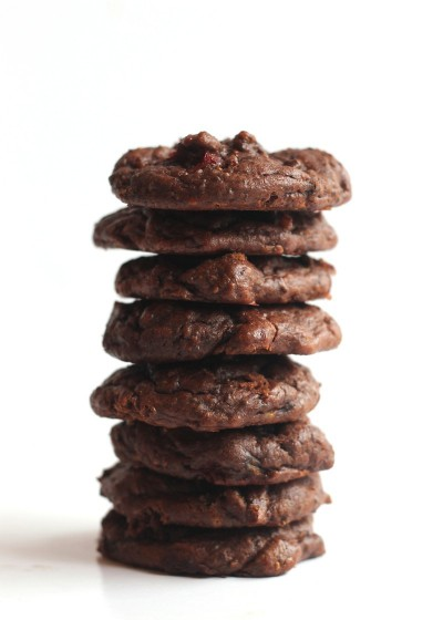 Flourless Chocolate Cranberry Chia Cookies